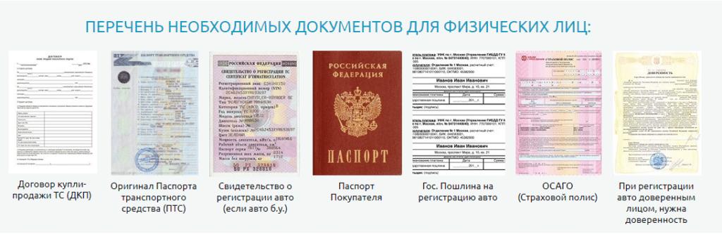 Документы для регистрации авто физ. лицу